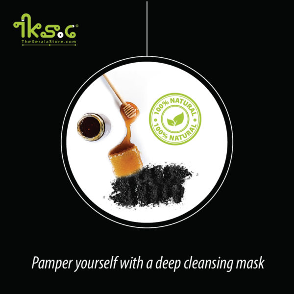 charcoal honey face-mask